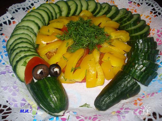необычное оформление блюд змея (567x425, 74Kb)