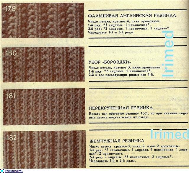 Все виды резинок для вязания спицами