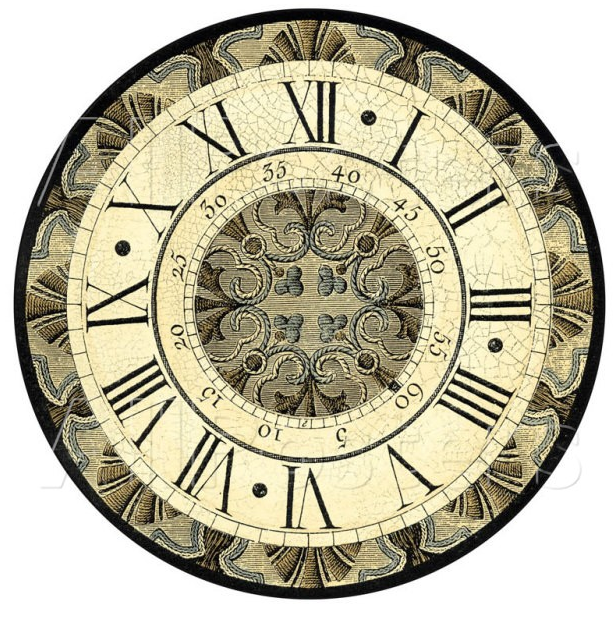 Винтажные часы и шаблоны циферблатов для декупажа или росписи.  Пользуйтесь на здоровье!