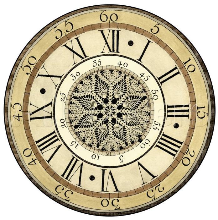 Винтажные часы и шаблоны циферблатов для декупажа или росписи.  Пользуйтесь на здоровье!  Вдохновлялочка Марриэтты.