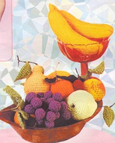вязание крючком описание и схемы фрукты.