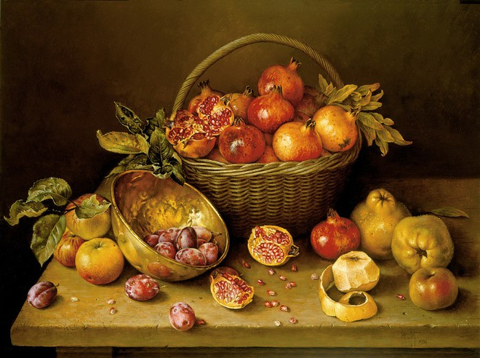 HOOPED%20BASKET%20OF%20POMEGRANATES%20AND%20FRUITS%2061x81%20cms%20Oil%20on%20canvas%201994(1) (700x521, 110Kb)