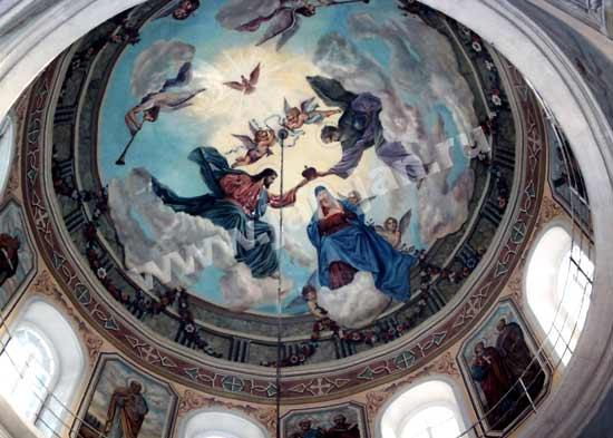 РОСПИСЬ КУПОЛА церкви  иконы Б.М. Казанская (550x393, 36Kb)