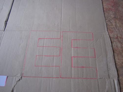 Как сделать буквы из гофрокартона