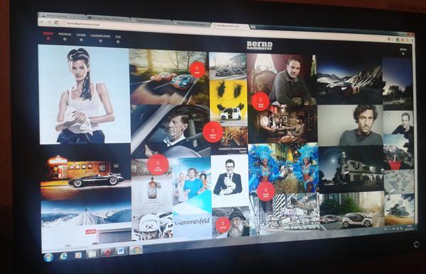Модульный макет дизайна веб страницы Фотографии