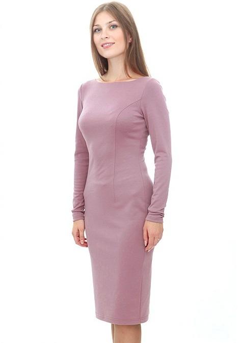 Скачать выкройка платья футляр с длинным рукавом