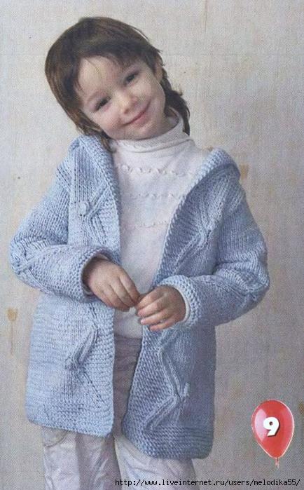 Пальто, куртки вязаные Вязание для детей спицами вязание пальто, кур