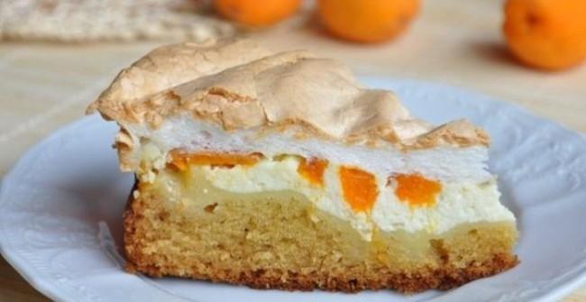 Пирог с безе и творогом рецепт с