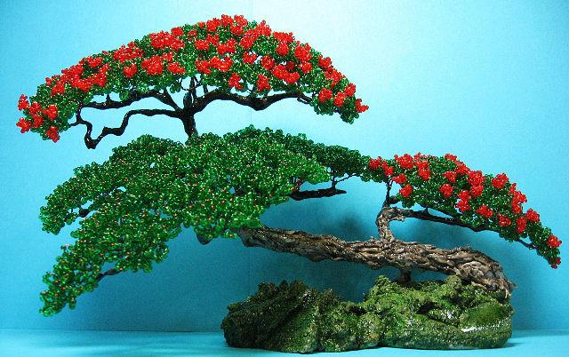 Бонсай из бисера сможет украсить ваш дом, или будет . мира с начала времен используется красный.