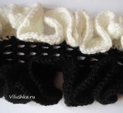 Если хотите сделать шарф