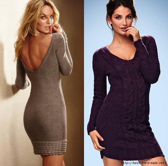 Вязаные Платья Мода