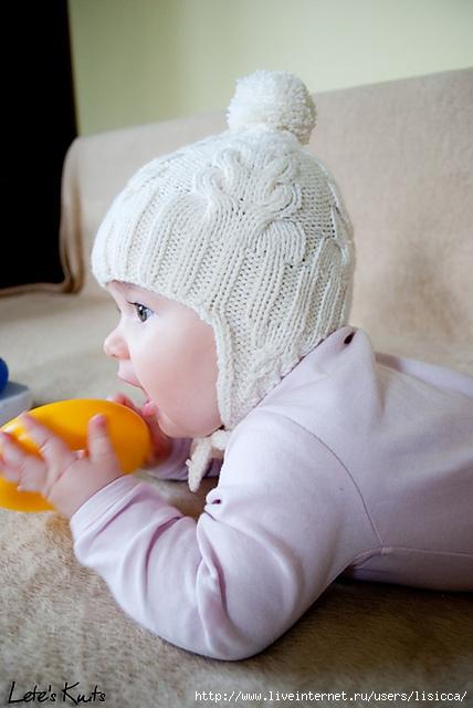 Вязание шапочки на 6 месяцев девочки 11