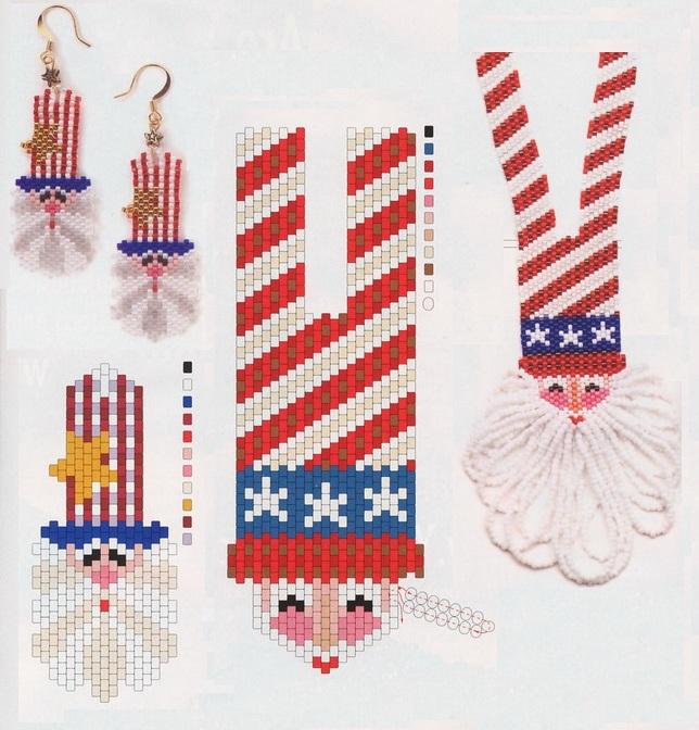 Бисероплетение - Новогодние украшения из бисера.  Категория.  Колье и Ожерелья.