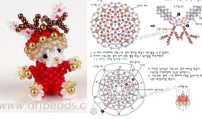 как сделать объ мное сердечко из бисера схема плетения - Сайт о бисере.