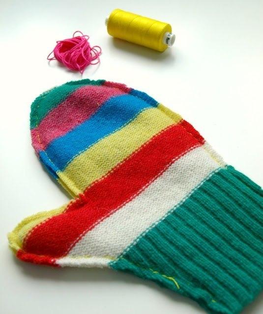 赋予旧毛衣一个新的生命11:手套(大师班) - maomao - 我随心动
