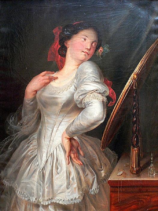 Antoine Wiertz - La coquette habillée (1834) (526x700, 359Kb)