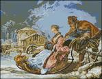 Превью Гобелен 461 Рождественские катания (700x540, 540Kb)