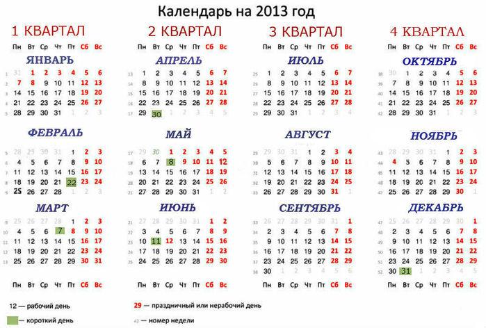 Производственный Календарь На 2009 Год С Праздничными Днями Россия