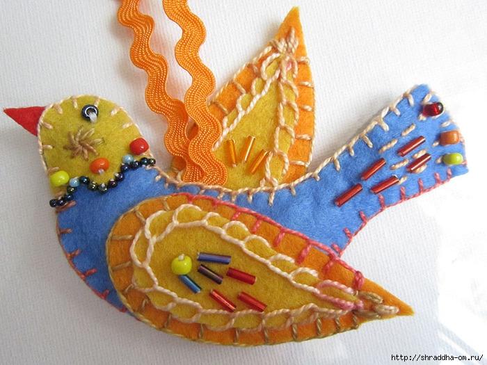 птичка из фетра, автор Shraddha, 2 (700x525, 267Kb)