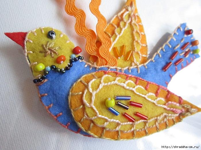 птичка из фетра, автор Shraddha, 3 (700x525, 265Kb)
