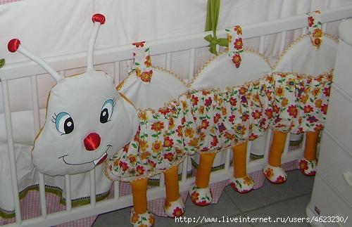 Бортики в кроватку игрушки своими руками