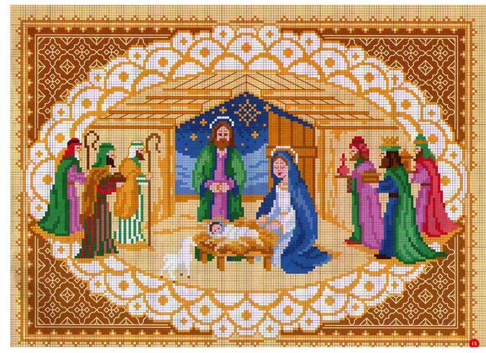Вышивка на рождественские мотивы