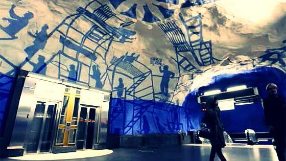 Самое красивое метро Европы находится в Стокгольме, Швеция
