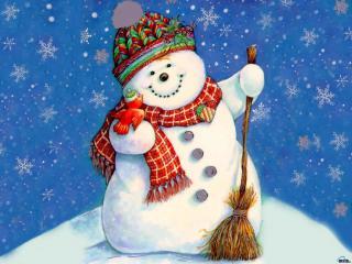 с-первым-снегом-снеговик (320x240, 17Kb)