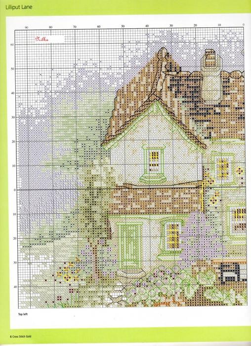 Вышивка крестом схемы домов 92