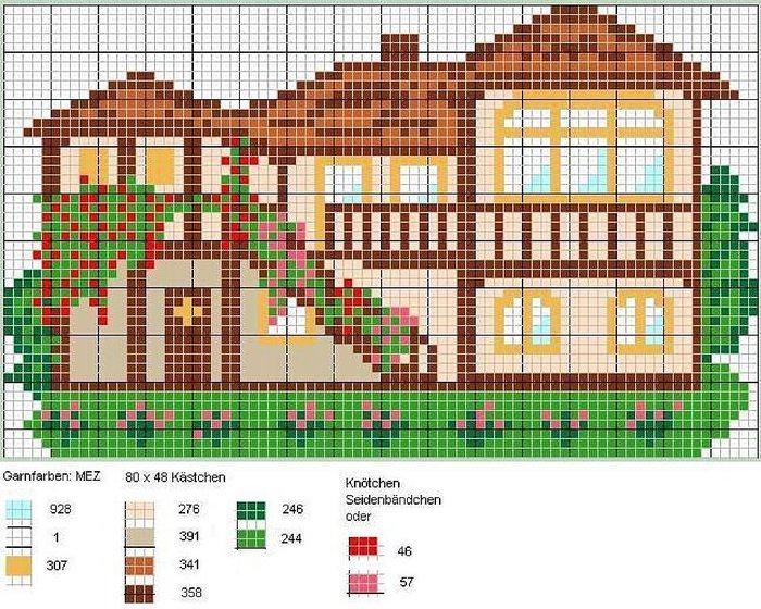 Очень простые схемы домиков: