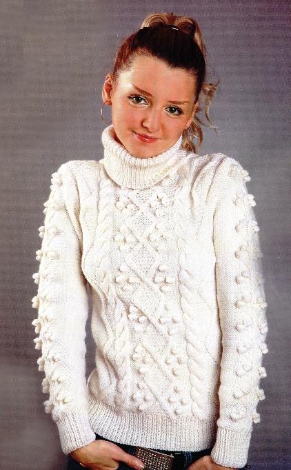 вязание спицами теплые свитера.