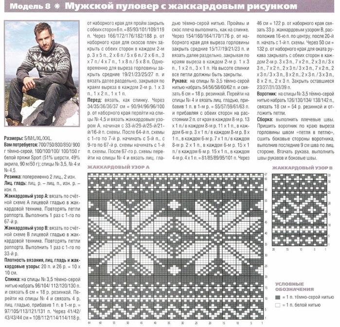 Орнаменты для вязания свитеров 86