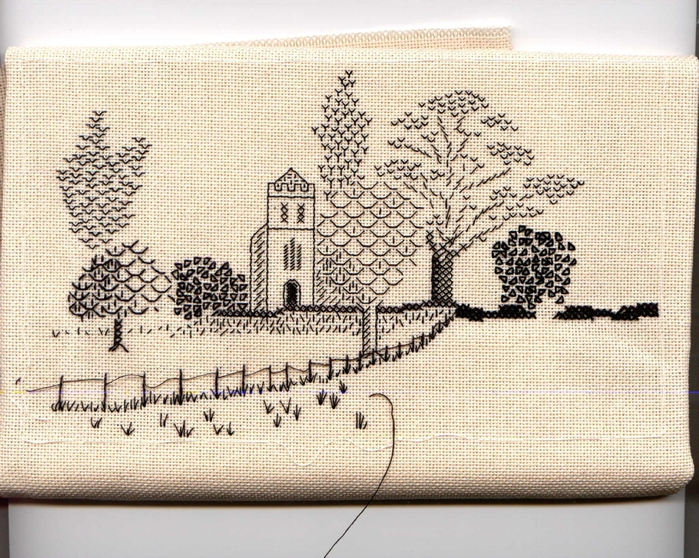 Embroidery Blackwork StPetersChurch (700x558, 378Kb)
