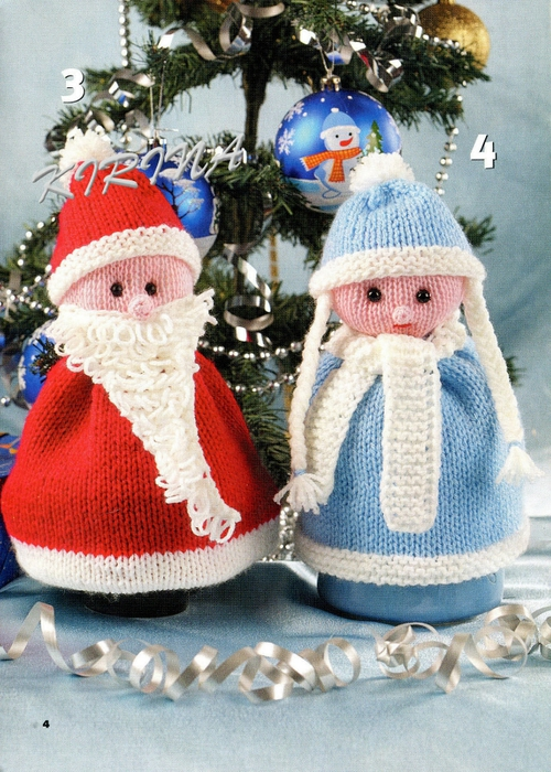 Дед мороз из ниток своими руками фото