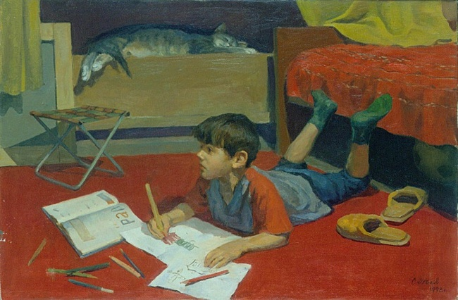 Сергей Зубцов Портрет сына (650x426, 119Kb)