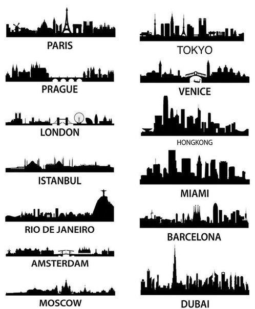 Силуэты городов мира (498x604, 50Kb)