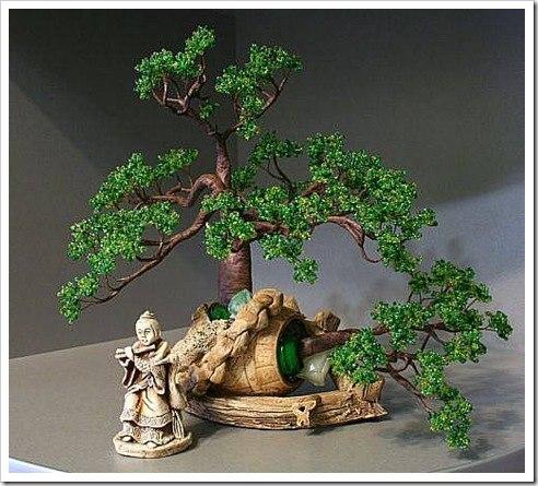 смотреть деревья из бисера - Мир Бисера.