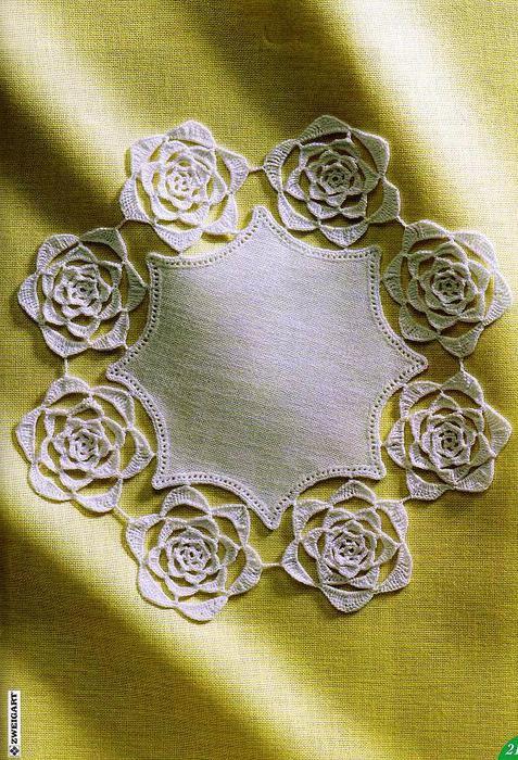 """钩针餐巾:""""针织和布面料"""" - maomao - 我随心动"""