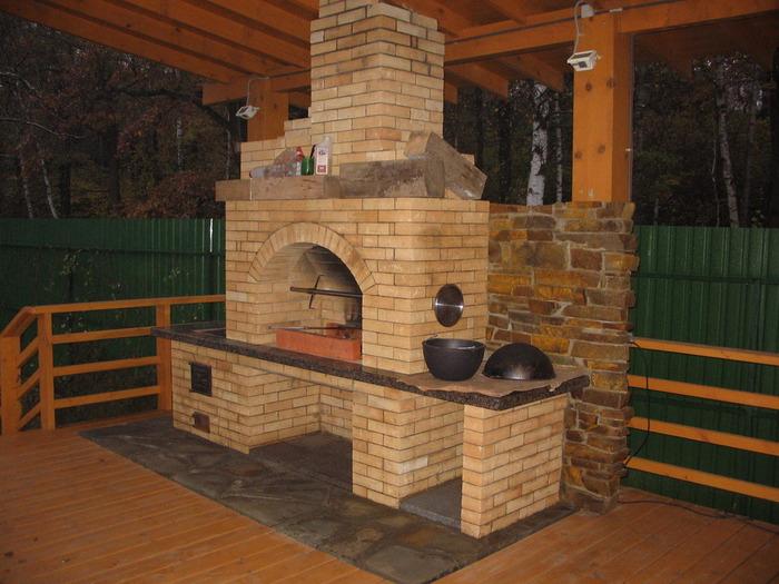Печка с мангалом для дачи своими руками фото - Поделки