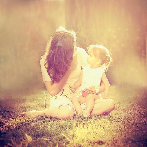 Девушка с ребенком.