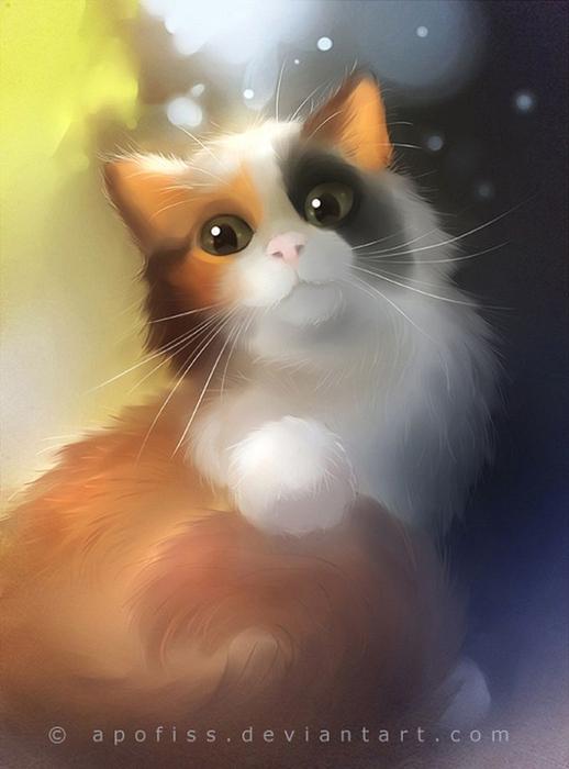 Rihards Donskis кошки картины 1 (518x700, 189Kb)
