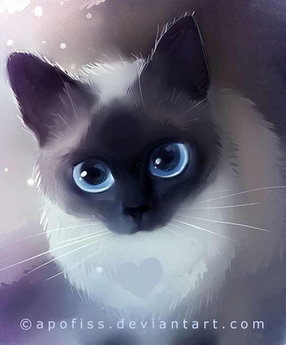 Rihards Donskis кошки картины 2 (581x700, 45Kb)