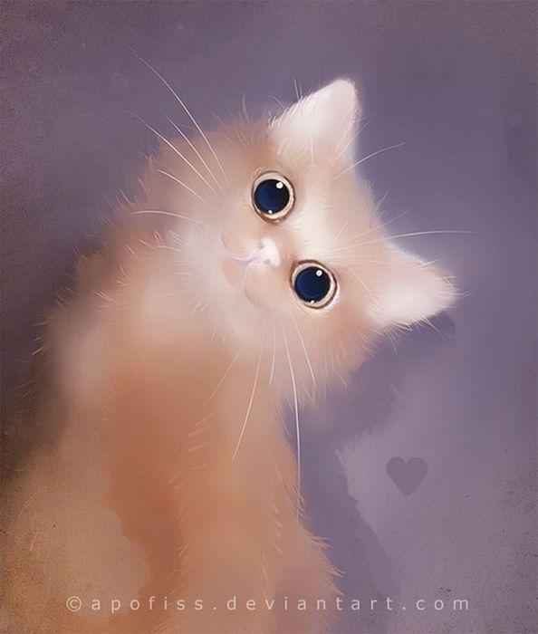 Rihards Donskis кошки картины 4 (594x700, 34Kb)