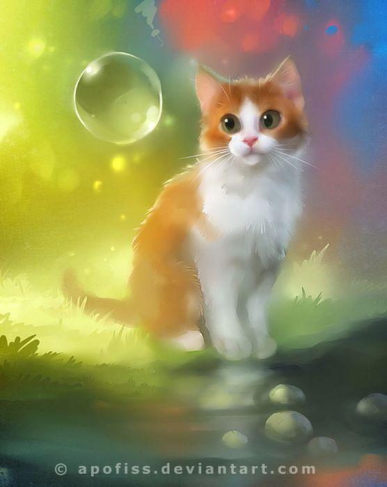 Rihards Donskis кошки картины 6 (556x700, 37Kb)