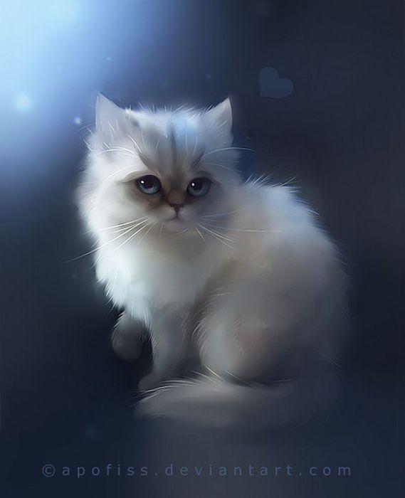 Rihards Donskis кошки картины 8 (569x700, 23Kb)