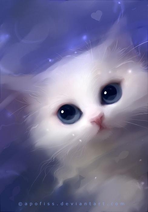 Rihards Donskis кошки картины 10 (489x700, 141Kb)