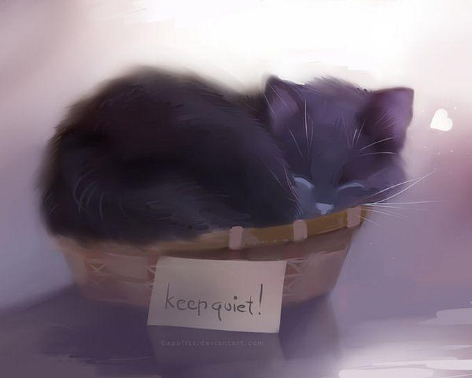 Rihards Donskis кошки картины 13 (680x544, 27Kb)
