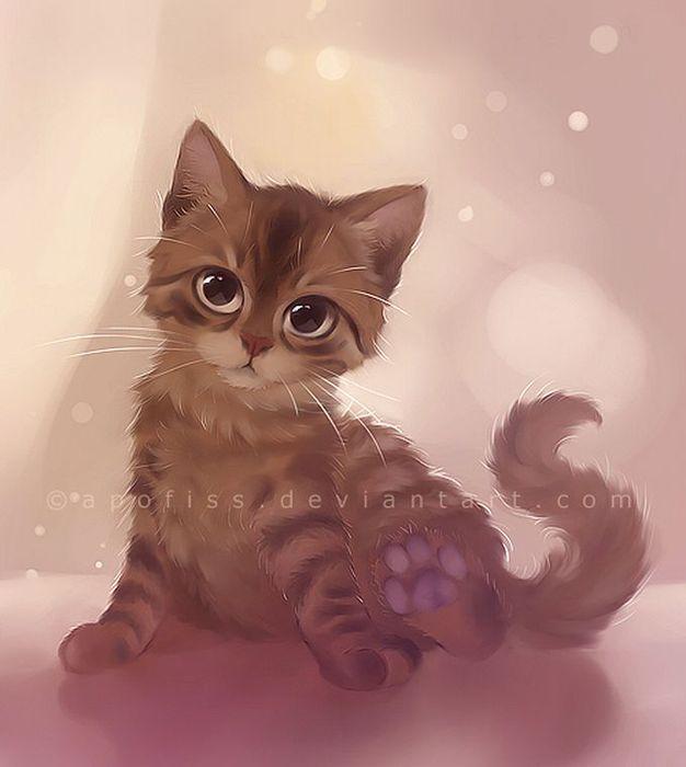 Rihards Donskis кошки картины 15 (626x700, 36Kb)