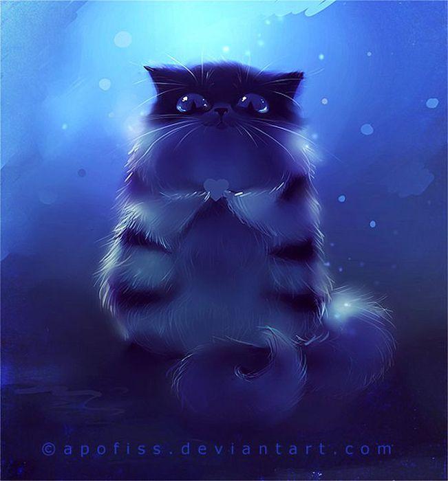 Rihards Donskis кошки картины 17 (651x700, 45Kb)