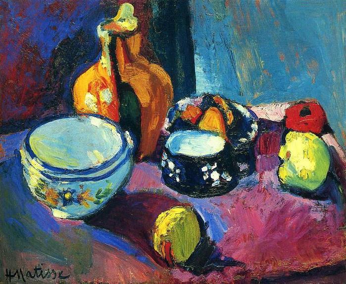 Посуда и фрукты. 1901  Эрмитаж (700x575, 189Kb)